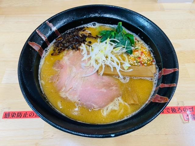 麺喰厨房EVO2の鶏白湯魚介ラーメン